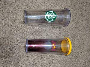 Asu Starbucks 24 oz tumblers pair / set of 2 - ASU and Clear for Sale in Mesa, AZ