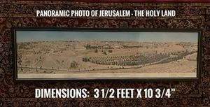 Panoramic Photo of Jerusalem (1970) for Sale in Spring, TX