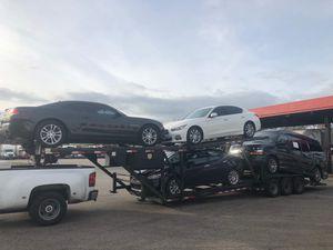 Trailes carga 4 carros es un Appalachia del 2014 las 6 gomas nuevas los 6 frenos nuevos las 2 baterías nuevas el winche nuevo para empezar a trabajar for Sale in Miami, FL