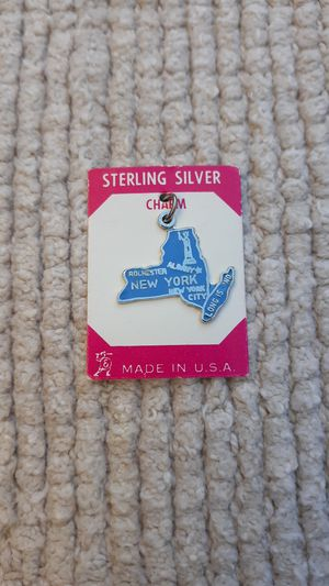New York State Vintage Sterling Silver Charm for Sale in Chandler, AZ