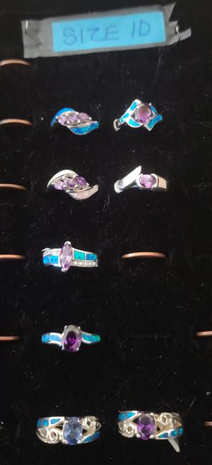 Amethyst size 10 sterling silver for Sale in Arnold, MO