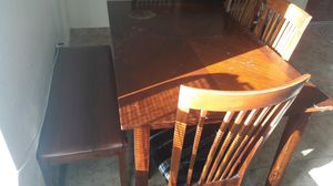 Kitchen table 4 chairs and half bench for Sale in El Cajon, CA