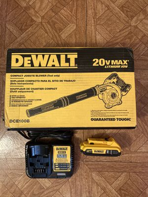 DeWalt. 20V MAX Lithium Ion Cordless Blower Kit. DCE100. for Sale in Brooklyn, NY