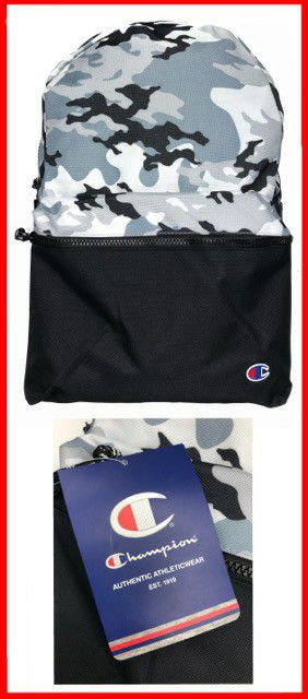 NEW! Grey Camouflage CHAMPION Backapck For Back To School/Traveling/Work/Outdoors/Sports/Gym/Everyday Use/Gifts for Sale in Torrance, CA