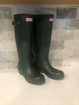 Hunter tall green rain boots for Sale in Rancho Cordova, CA