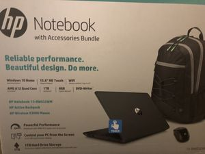 HP notebook with accessories bundle (mouse and laptop backpack) for Sale in Loma Linda, CA