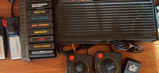 Atari 2600 W/ Controllers And Games for Sale in Lambertville,  NJ