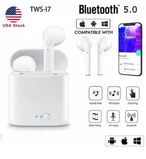 Brand new wireless Bluetooth headphones earbuds with charging case for Sale in Tacoma, WA