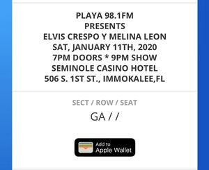 Elvis Crespo tickets for Sale in Lehigh Acres, FL