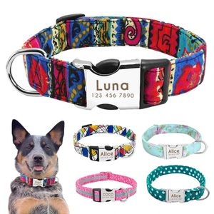 NYLON DOG COLLAR PERSONALIZED PET COLLAR ENGRAVED for Sale in Des Plaines, IL