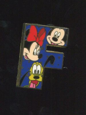"Disney ""F"" Letter Alphabet Collection Pin 2011 for Sale in Downey, CA"