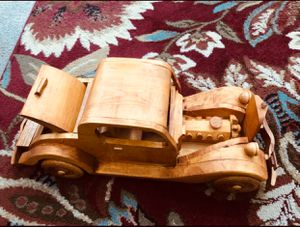Solid wood ANTIQUE Hand made MODEL TRUCK from the early 1900's!! STUNNING DETAIL AND MOVING PARTS!! for Sale in Everett, WA