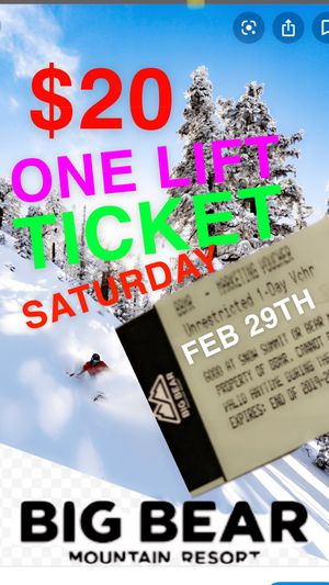 BEAR MOUNTAIN LIFT TICKET 🎫 • ONE TICKET • $20 !!!! for Sale in Los Angeles, CA