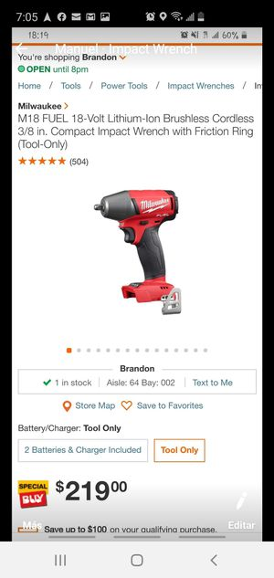 Milwaukee Wrench for Sale in Tampa, FL