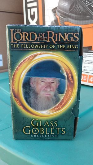 The Lord of the rings glass goblets collection cup for Sale in San Jose, CA