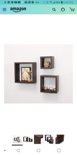 Set of 3 cubbi deep Square wall shelves for Sale in Des Moines,  WA