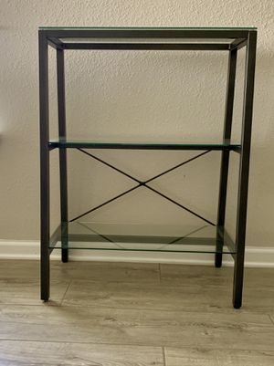 Metal & Glass Bookcase / Accent Shelving Unit for Sale in St. Augustine, FL
