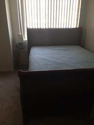 Queen Bed-Frame (solid wood) for Sale in Riverside, CA