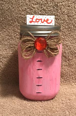 Decor jar for piggy bank , candy , gifts etc .... for Sale in Salt Rock, WV