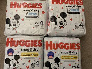 Huggies - Snug & Dry - size 4 for Sale in Fallbrook, CA