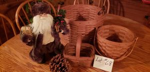 Longaberger Baskets and country Santa for Sale in Cary, IL