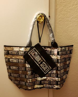 Victoria secret bling tote bag plus waist bag for Sale in Rancho Cucamonga, CA