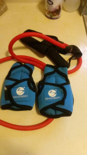 Beachbody hand weights and exercise band for Sale in Chapel Hill, NC
