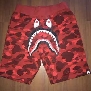 Bape A Bathing Ape Red Color Camo Shark Shorts, Sz L and Sz XL for Sale in Boston, MA