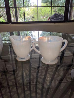 Milk Glass Sugar Creamer Serving Dishes for Sale in Carmichael, CA