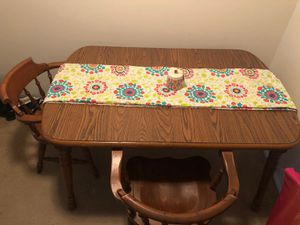 Solid wooden dining table with 4 chairs at lower price for Sale in Maryland Heights, MO
