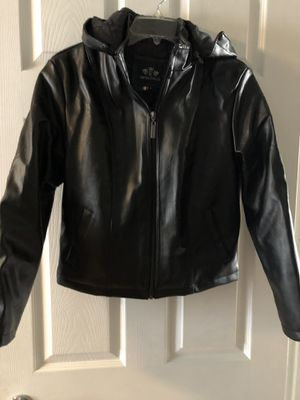 Boys black jacket w/hoodie for Sale in Melrose Park, IL
