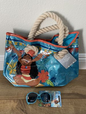 Brand new Moana beach bag and sunglasses for Sale in Stevenson Ranch, CA