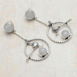 Moonstone 2 inch 925 earrings for Sale in San Antonio, TX