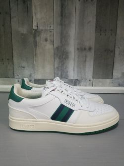 Polo Ralph Lauren US Polo Court Leather/Suede Sneakers White Multi Shoes for Sale in North Las Vegas,  NV