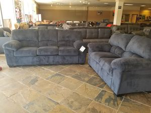 REDUCED *** Navy Plush Sofa and Loveseat Set *** for Sale in Phoenix, AZ