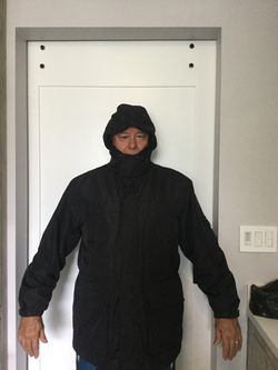 Parka black Weatherproof size Large for Sale in Hollywood,  FL