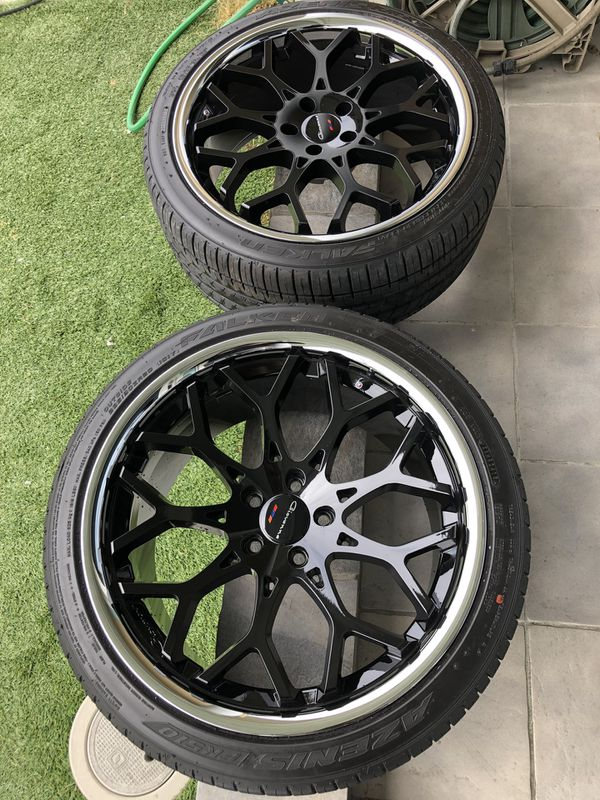 Staggered Giovanna Multispoke wheels. 20x9 and 20x10.5