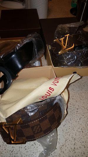 1 Gucci 2 Louis Vuitton Belts for Sale in Rockville, MD