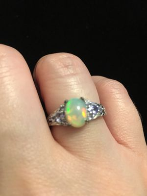 Opal and Tanzanite silver ring size 8 for Sale in West Richland, WA