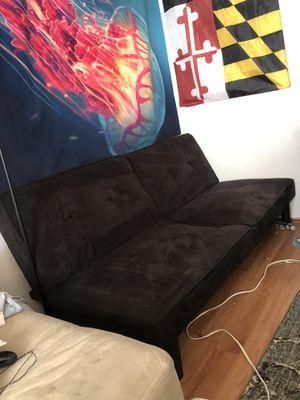 Black futon couch for Sale in Hyattsville, MD