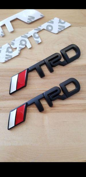 TRD Metal car emblem pack of 2 badge for Toyota , Lexus vehicles for Sale in Murrieta, CA