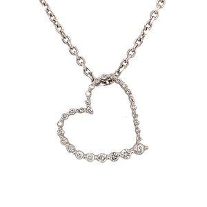 14k/10k Diamond Heart Necklace for Sale in Alexandria, VA