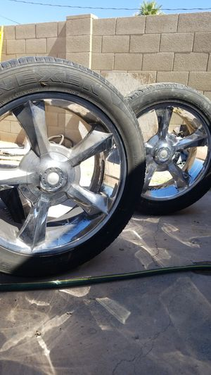Rims chevy 6 lugs tires 50% life $ 260 for Sale in Phoenix, AZ