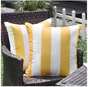 WESTERN HOME WH Outdoor Pillow Covers 18x18 Waterproof, Stripe Square Pillowcases Patio Throw Pillow Covers Cushions for Couch Bench Tent Garden - Pa for Sale in Garden Grove, CA