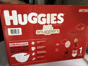 Huggies Lil Snugglers Size 1 and Size 2 Diapers for Sale in Saint Charles, MO