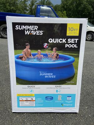 Summer Waves 10ft Quick Set Ring Pool for Sale in Clarksburg, MD