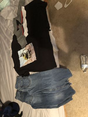 Boys clothes shirts 8 and a large pants 8 regular and 10 regular for Sale in Navarre, FL