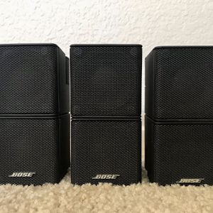 Set of 3 Bose Acoustimass Double Cube Jewel Speakers Black for Sale in San Jose, CA