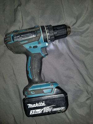 Makita 3.0 ah 18v Lithium battery drill for Sale in University Park, IL