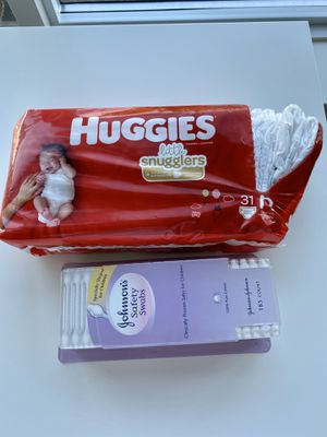 Diapers and cotton swabs for Sale in Bellevue, WA